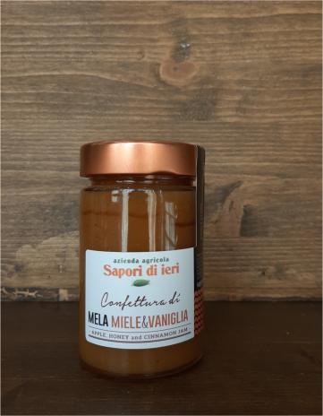 Confettura di mela, miele e vaniglia 210gr